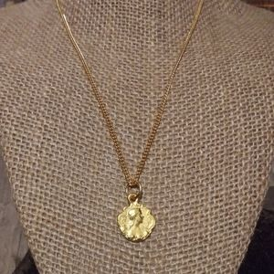 SALENwot Anna Beck 14k Cameo Coin Pendant Necklace